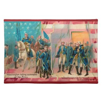 George Washington and Troops Placemat