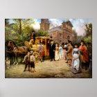 George Washington Arriving At Christ Church Poster