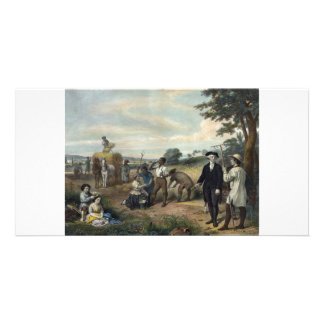 George Washington as a Farmer collector photo card