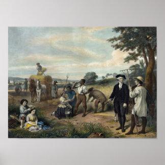 """George Washington as a Farmer"" print/poster Poster"