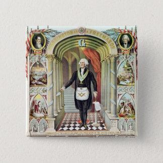 George Washington as a Freemason Button