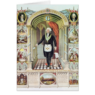 George Washington as a Freemason Card