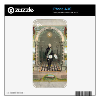 George Washington as a Freemason Decals For iPhone 4