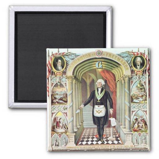 George Washington as a Freemason Refrigerator Magnets