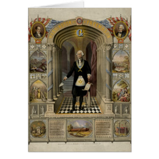 George Washington As A Freemason Portrait, 1867. Greeting Card