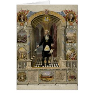 George Washington As A Freemason Portrait, 1867 Card