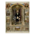 George Washington As A Freemason Portrait, 1867. Postcard