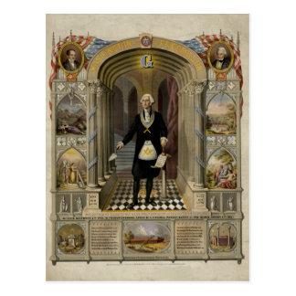 George Washington As A Freemason Portrait, 1867 Postcards