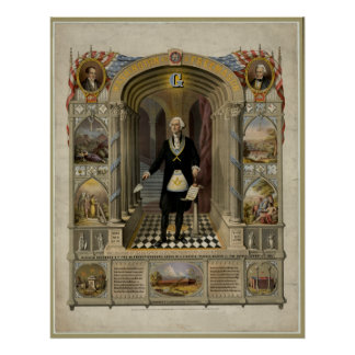George Washington As A Freemason Portrait, 1867. Poster