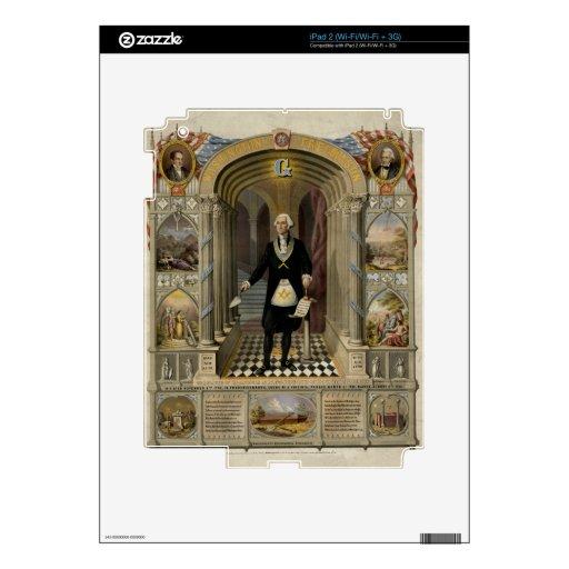 George Washington As A Freemason Portrait, 1867 iPad 2 Decals