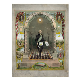 George Washington as a Freemason Poster