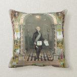 George Washington as a Freemason Throw Pillows