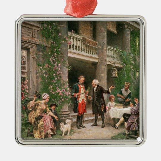 George Washington at Bartram's Garden Metal Ornament