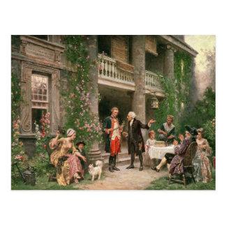 George Washington at Bartram's Garden Postcard