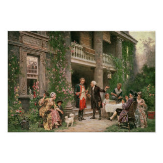 George Washington at Bartram's Garden Poster