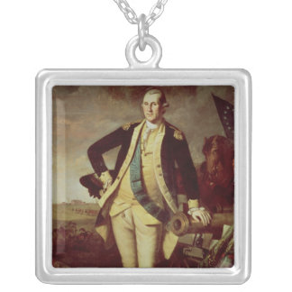 George Washington at Princeton, 1779 Silver Plated Necklace