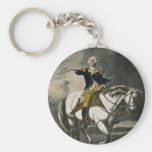 George Washington at Trenton Basic Round Button Keychain