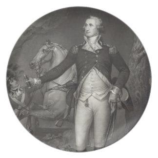 George Washington at Trenton Plate