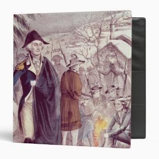 George Washington at Valley Forge 3 Ring Binder