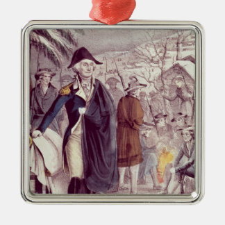 George Washington at Valley Forge Metal Ornament
