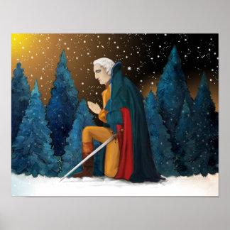 George Washington at Valley Forge Praying Poster