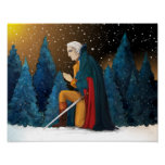 George Washington at Valley Forge Praying Print