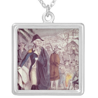 George Washington at Valley Forge Silver Plated Necklace
