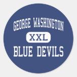 George Washington Blue Devils Middle Eleanor Stickers