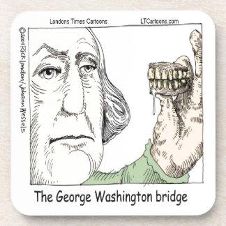George Washington Bridge & Dentures Funny Gift Beverage Coaster