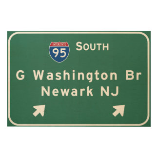 George Washington Bridge Interstate I-95 Newark NJ Wood Print