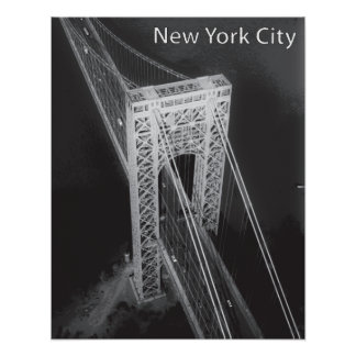 George Washington Bridge New York City Poster