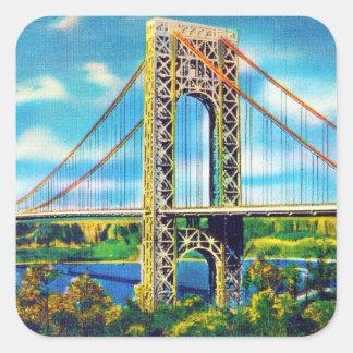 George Washington Bridge, New York City Square Sticker