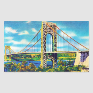 George Washington Bridge, New York City Rectangular Sticker