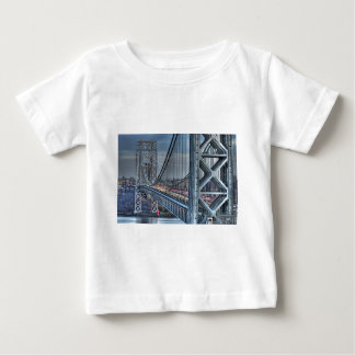 George Washington Bridge & The Red Lighthouse NYC Baby T-Shirt