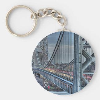 George Washington Bridge & The Red Lighthouse NYC Keychain