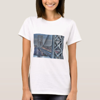 George Washington Bridge & The Red Lighthouse NYC T-Shirt