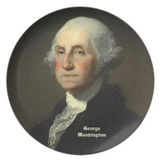 George Washington by Gilbert Stuart - Circa 1800 Melamine Plate