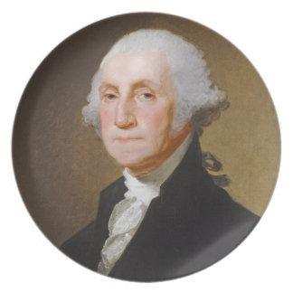 George Washington, c.1821 (oil on canvas) Dinner Plate