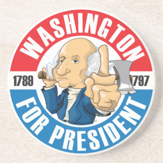 George Washington Campaign Coaster
