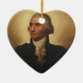 GEORGE WASHINGTON CERAMIC ORNAMENT