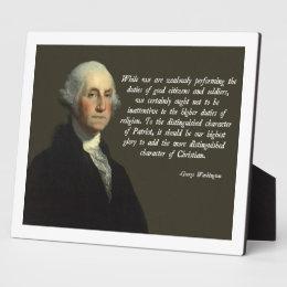George Washington Christian Plaque