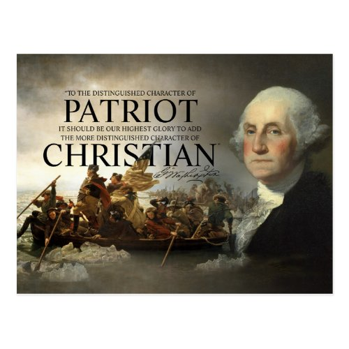 George Washington Christian Postcard