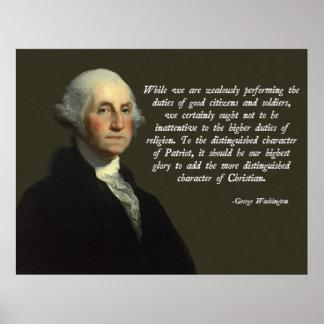 George Washington Christian Poster