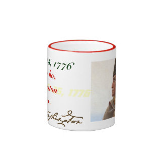 George Washington Christmas Ringer Coffee Mug