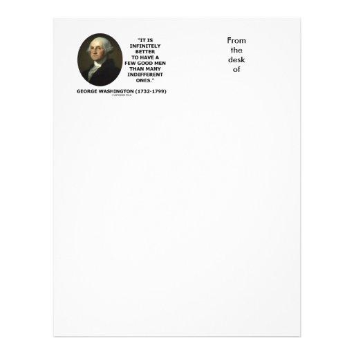 George Washington cita de algunos buena hombres Membrete