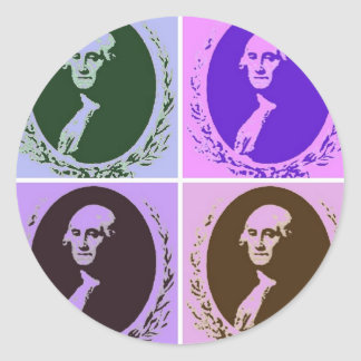 George Washington Classic Round Sticker