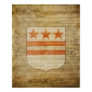 George Washington Coat of Arms Poster