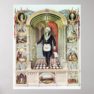 George Washington como Freemason Poster
