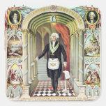 George Washington como Freemason Pegatinas Cuadradases