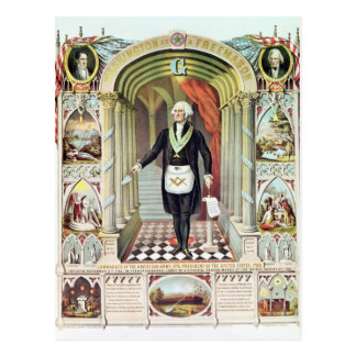 George Washington como Freemason Postales